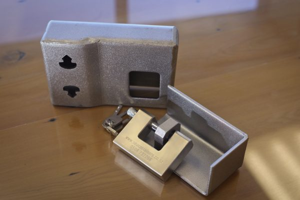 Shipping Container Padlock and Lock box Combo